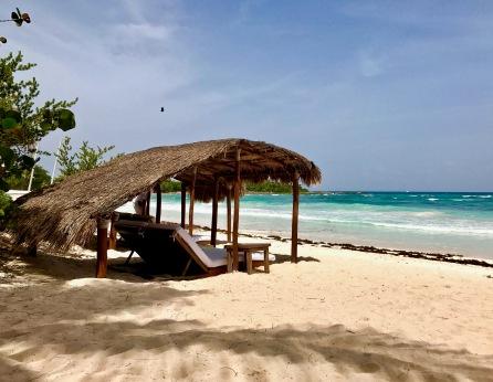 Peaceful beach cabana