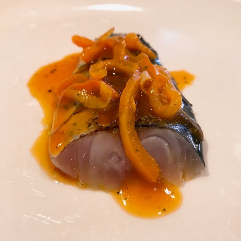 Boston mackerel—pepper, young ginger